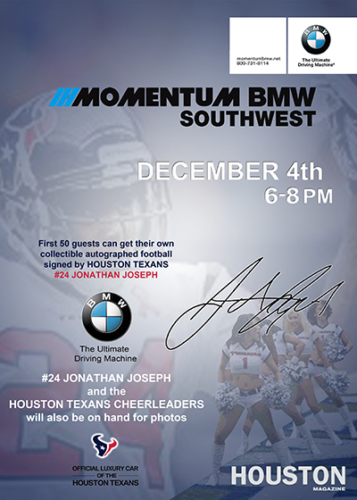 ShutterQube.  Momentum BMW and Houston Texans #24 Jonathan Joseph