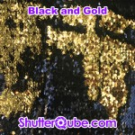 black and gold mermaid flipz backdrop photo booth