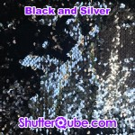 black and silver mermaid flipz backdrop photo booth