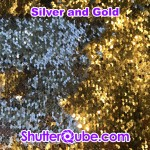 sliver and gold mermaid flipz backdrop photo booth