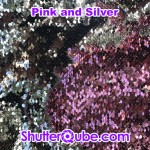 sliver and pink mermaid flipz backdrop photo booth